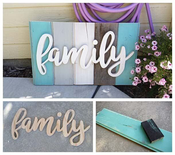 Distressed Wooden Porch Sign #diy #porch #sign #decorhomeideas