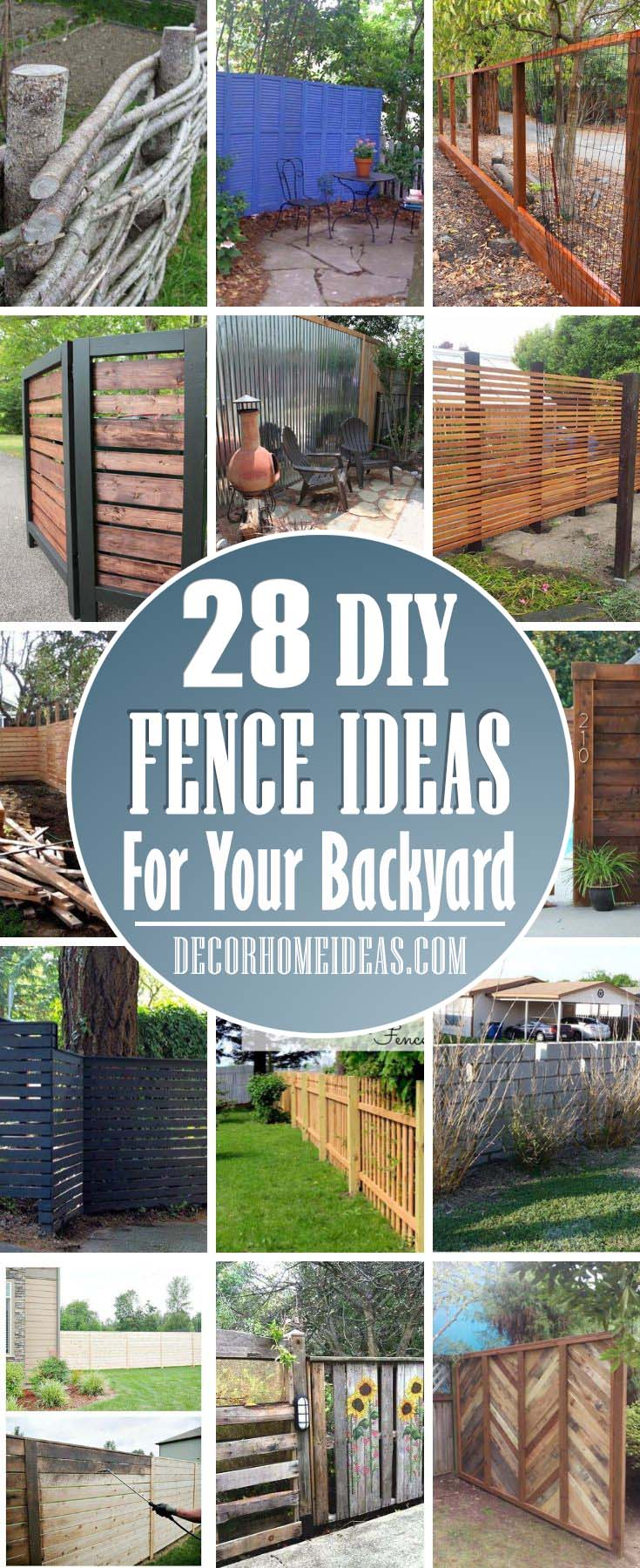 Picture of: 28 Best Diy Backyard Fence Ideas To Create The Perfect Retreat Decor Home Ideas