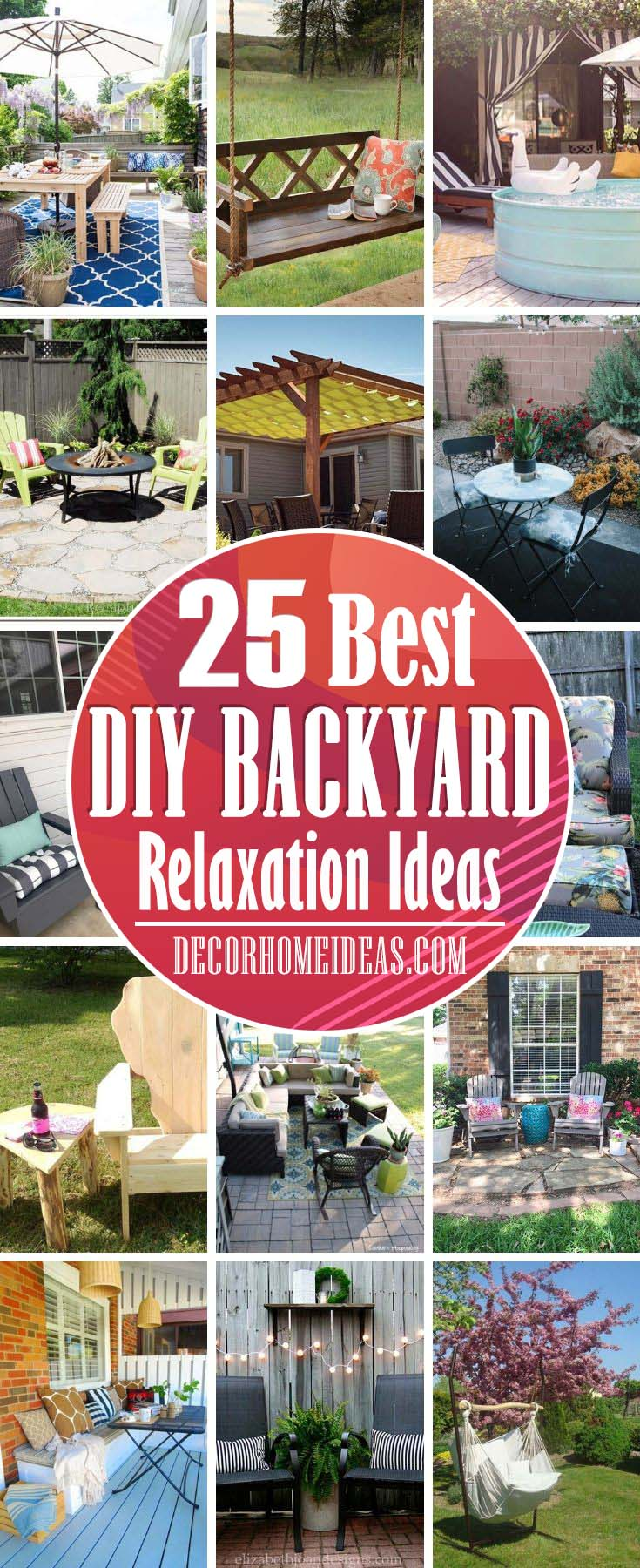 Best DIY Backyard Relaxation Ideas To Enjoy All Summer. Get some inspiration with these DIY backyard project ideas that will make your summer days more fun and enjoyable. #diy #backyard #projects #decorhomeideas