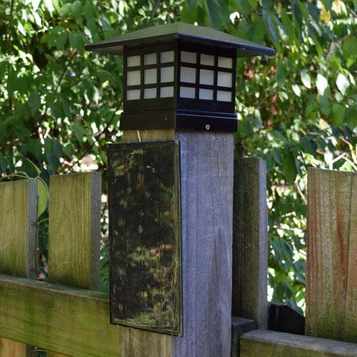 Fence Post Bright White Solar Light #diy #solar #lights #solarlight #garden #decorhomeideas
