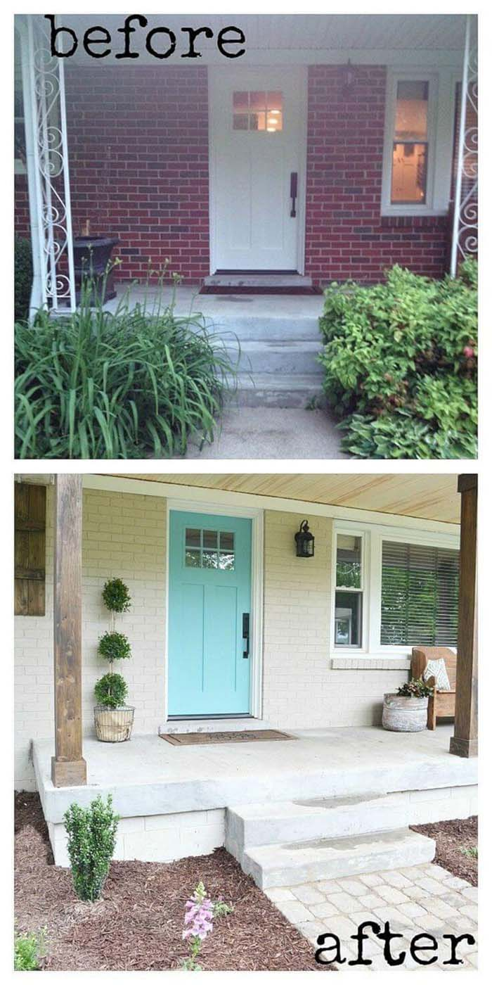 From Mid-Century Mess to Urban Paradise #diy #porch #makeover #decorhomeideas