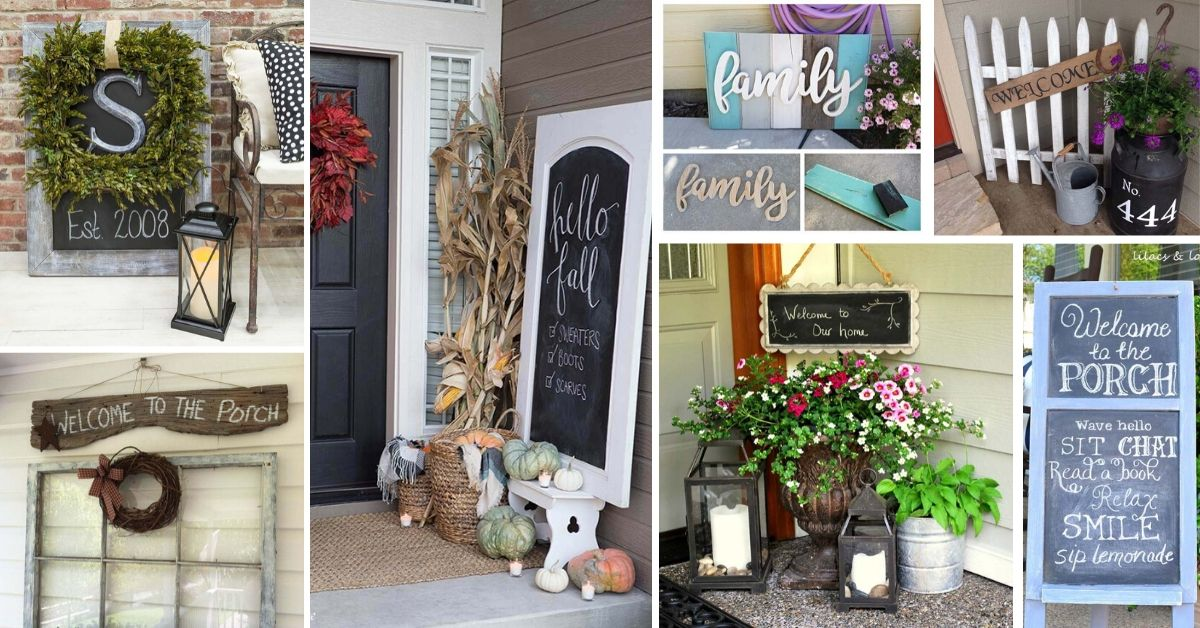 Front Porch Sign Ideas And Designs