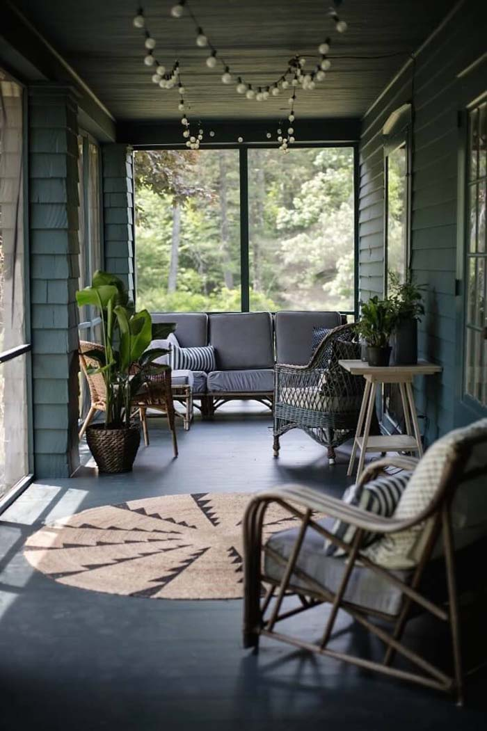 Fun Textures for Indoor/Outdoor Areas #diy #porch #makeover #decorhomeideas