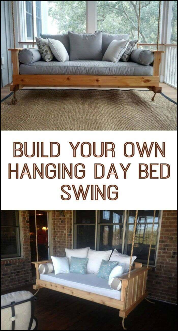 Hanging Day Bed Swing #porch #swing #bed #decorhomeideas