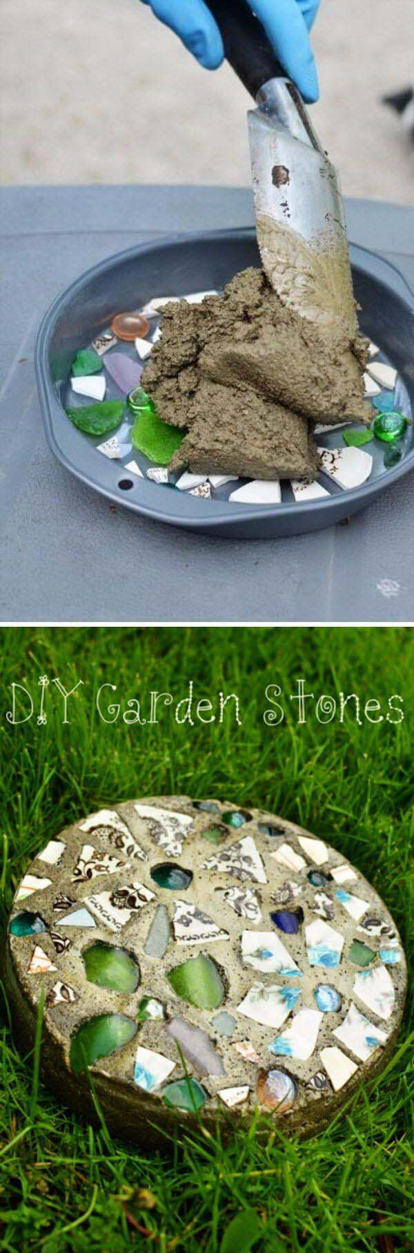 How to Make Stepping Stones – with a Cake Pan #diy #concrete #backyard #decorhomeideas
