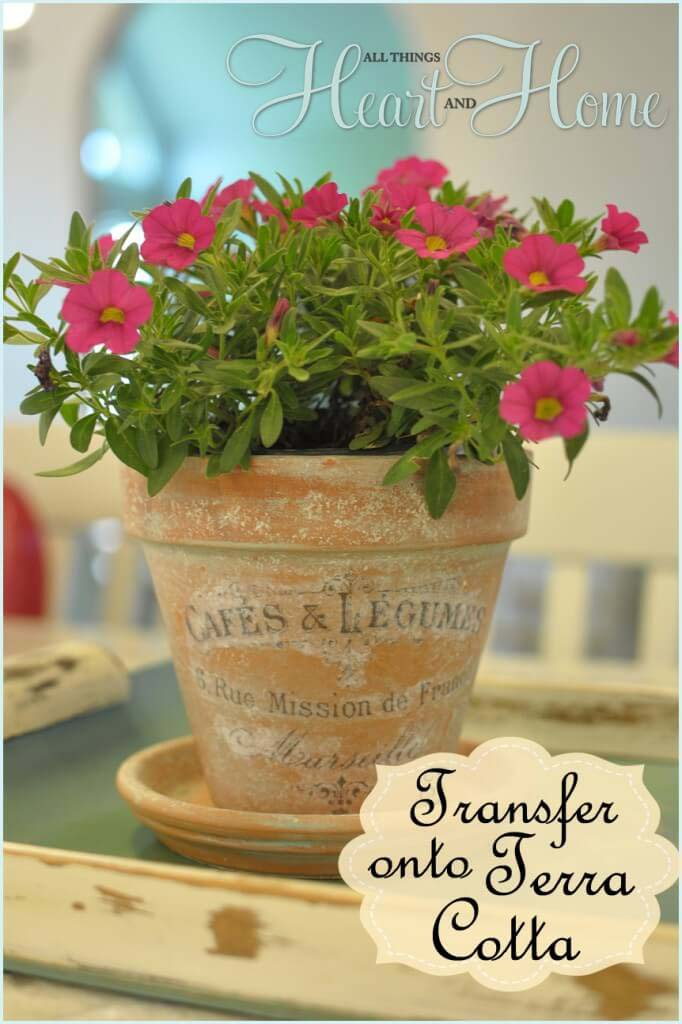 How to Put Antique Transfers on Pottery #diy #flowerpot #garden #flower #decorhomeideas