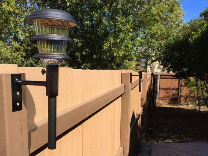 Mounted Solar Light Posts #diy #solar #lights #solarlight #garden #decorhomeideas
