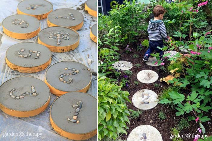 Numbered Stepping Stones #steppingstones #garden #backyard #pathway #decorhomeideas