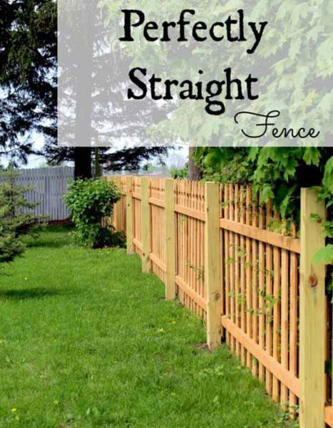 Perfectly Straight Natural Wood Picket Fence #farmhouse #summer #decor #decorhomeideas