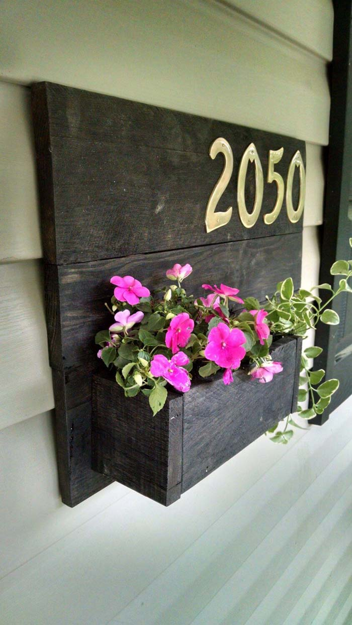 Personalized Pallet Home Address Sign #diy #pallet #garden #decorhomeideas