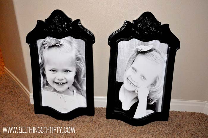 Picture Frames from Repurposed Wood #chair #diy #repurposed #decorhomeideas