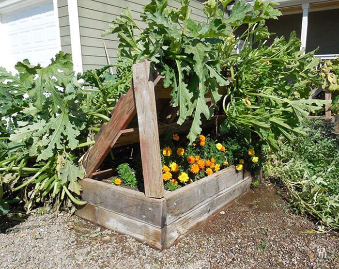 Planter Box Growing Racks for Gardening #diy #pallet #garden #decorhomeideas