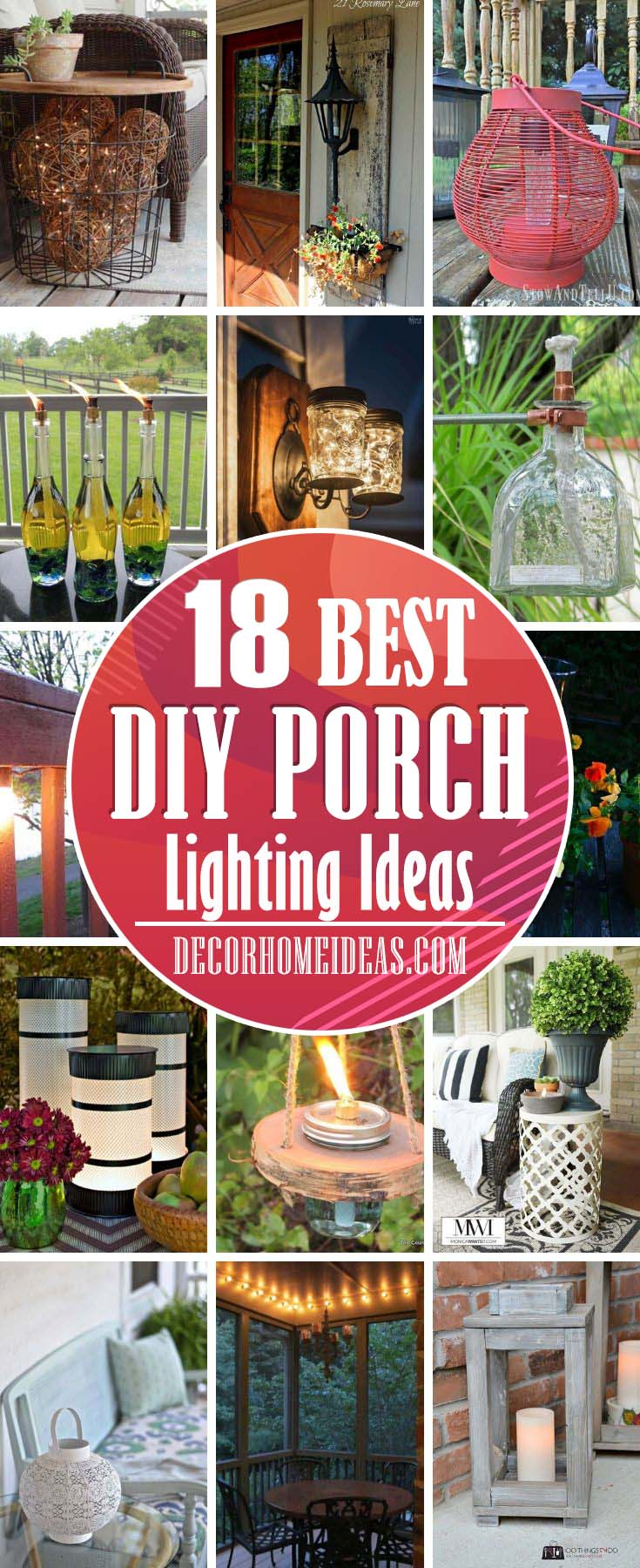 Porch Lighting Ideas. Take a look at these awesome DIY porch lighting ideas to make your porch more inviting and welcoming at night. #diy #porch #lighting #decorhomeideas