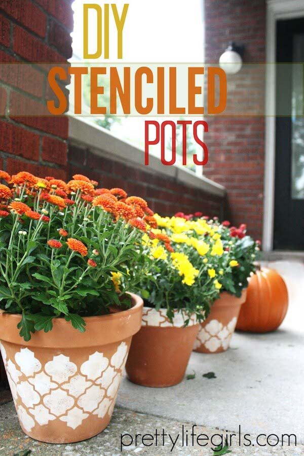 Put Your Favorite Pattern on a Pot #diy #flowerpot #garden #flower #decorhomeideas
