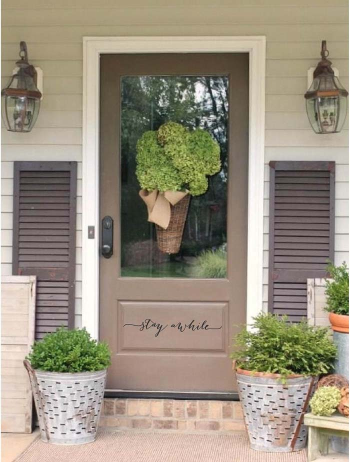 Stay a While Vinyl Decal #veranda #decor #rustic #decorhomeideas
