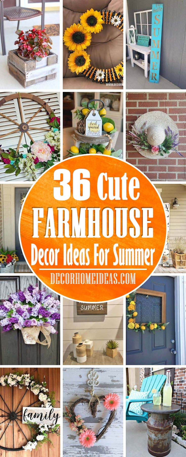 Summer Farmhouse Decoration Ideas These summer farmhouse decor ideas will add charm and sunlight in your home. Let the summer mood fill your home and heart. #farmhouse #summer #decorhomeideas