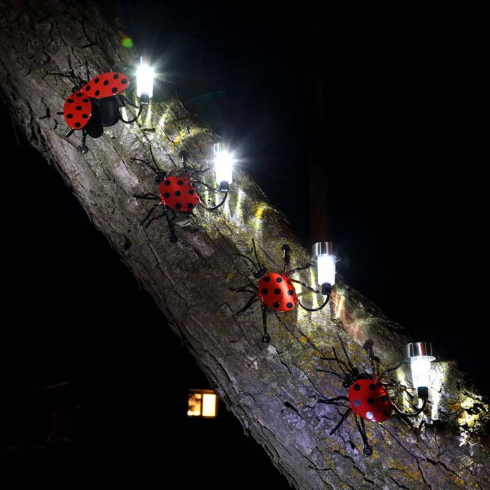 Super Cute Lady Bug Lights #diy #solar #lights #solarlight #garden #decorhomeideas