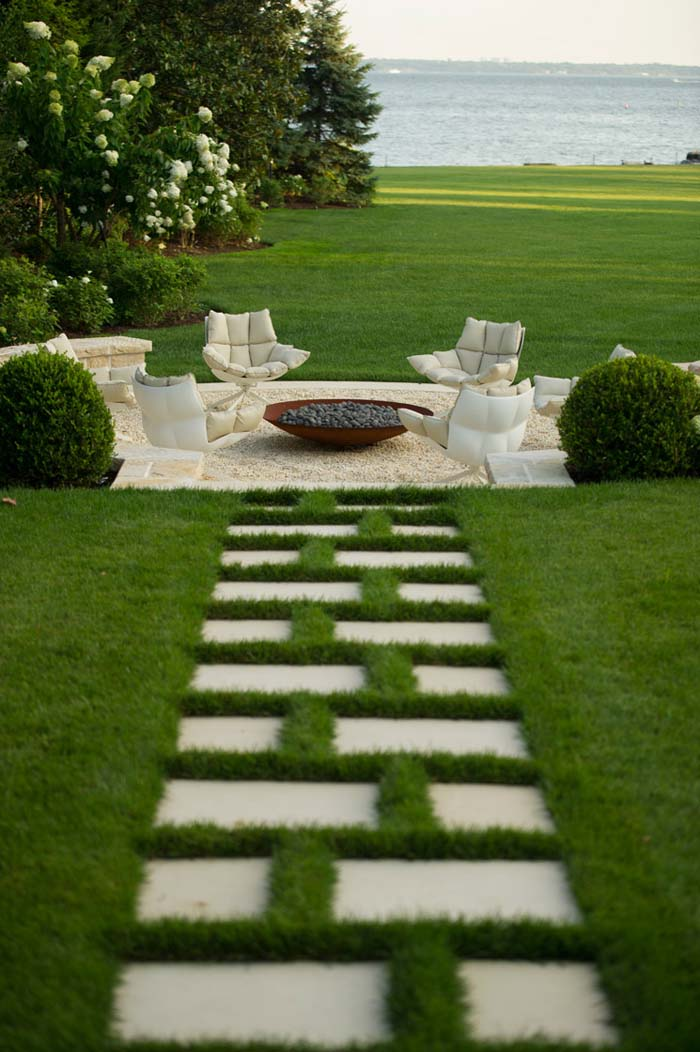The Journey is More Important than the Destination #steppingstones #garden #backyard #pathway #decorhomeideas