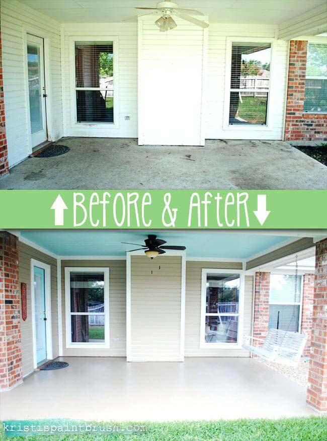 The Perfect Neutral Outdoor Space #diy #porch #makeover #decorhomeideas