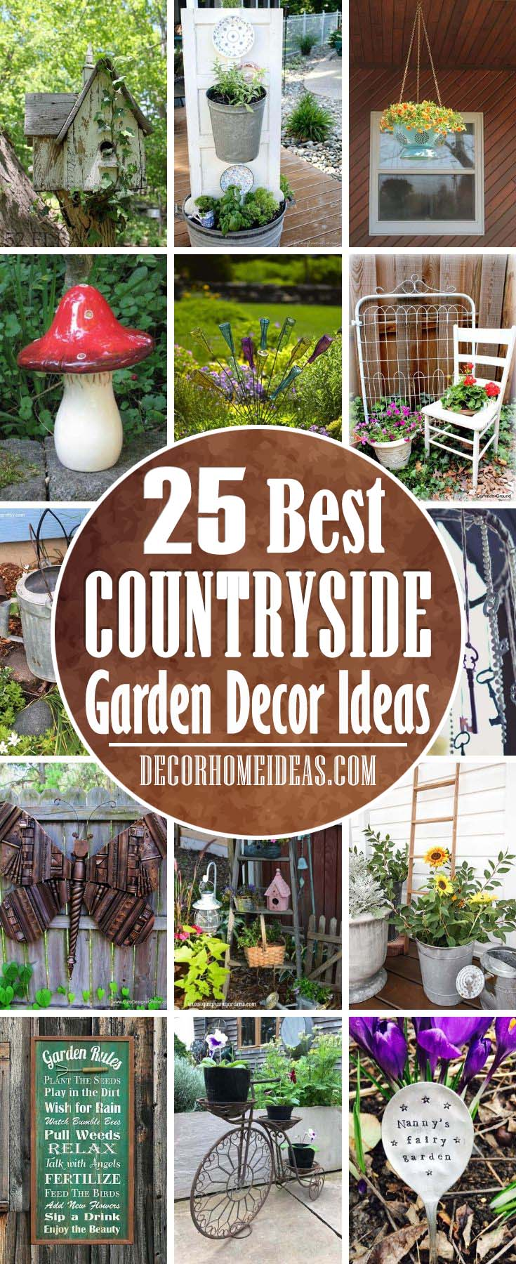 Unique Contryside Garden Decor Ideas. Boost your creativity with these budget-friendly countryside garden ideas and decorations that you can do. #countryside #garden #decorhomeideas