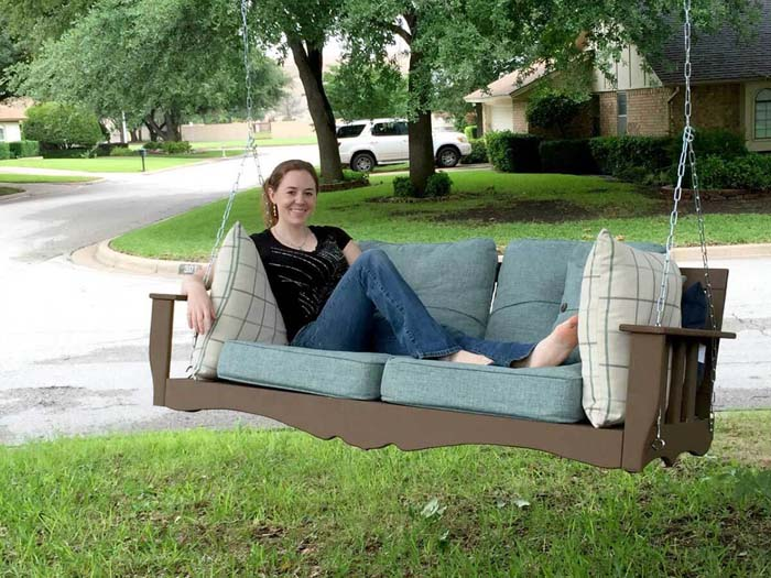 Wide-Seated Swing #porch #swing #bed #decorhomeideas