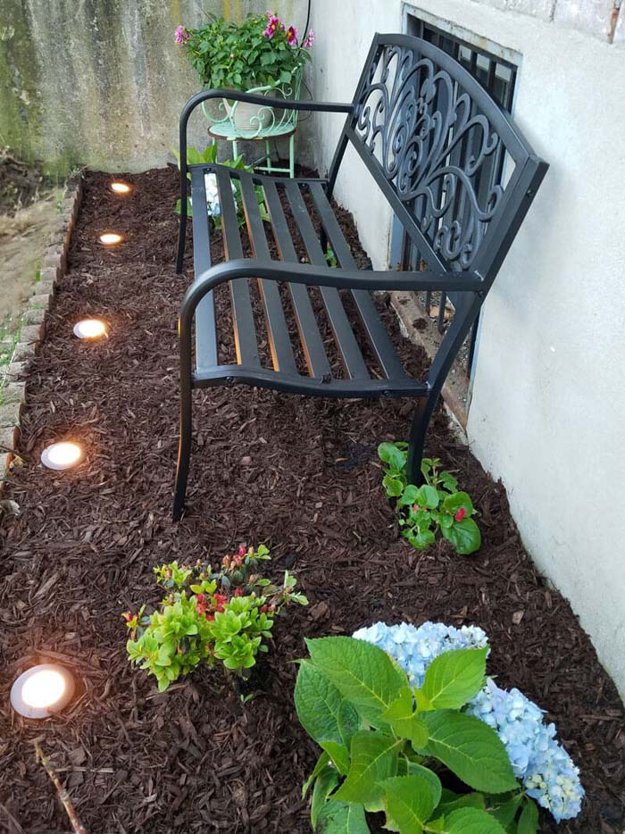 Add Ornate Bench #backyard #sitting #area #decorhomeideas