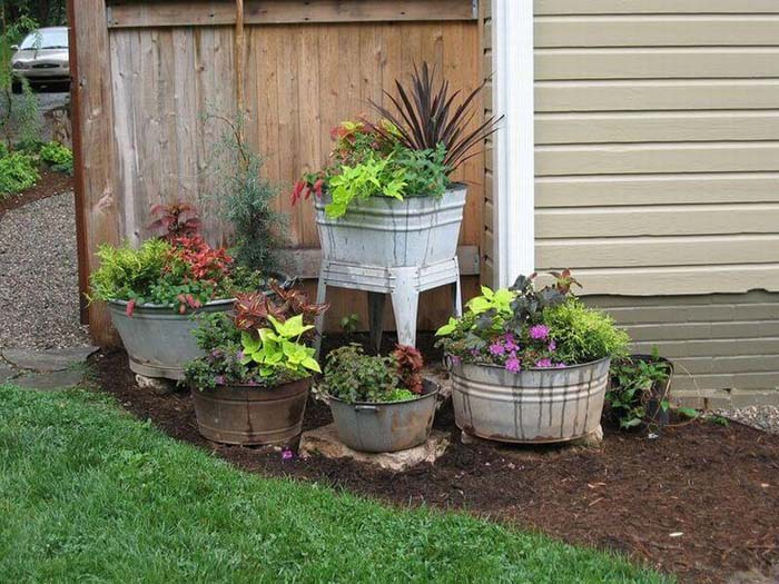 Antique Washtub Garden Container #garden #container #planter #decorhomeideas