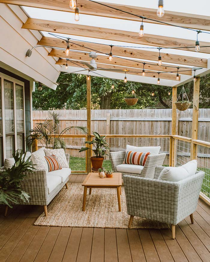 Backyard Sitting Ideas for Entertaining #backyard #sitting #area #decorhomeideas