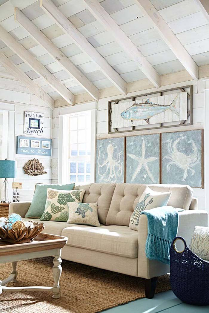 Beach Relaxation Plentiful with Sea Life and Coral #beach #coastal #decoration #decorhomeideas
