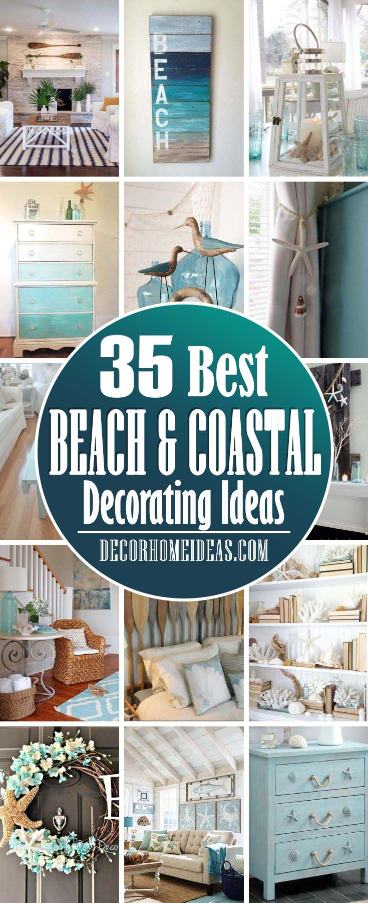 Best Beach And Coastal Decorating Ideas. If dream about beach, sand and ocean breezes, you can enhance the natural beauty of your home with light and airy beach house decor. #decorhomeideas