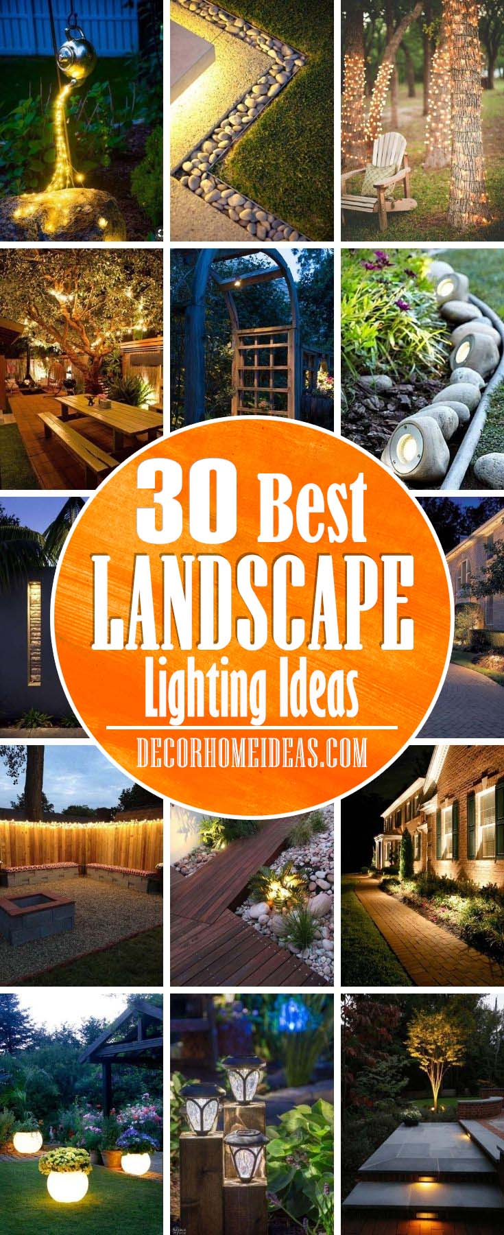 Best Landscaping Lighting Ideas. Add more light and texture to your backyard with these creative landscape lighting ideas. Best ideas and designs with photos. #decorhomeideas