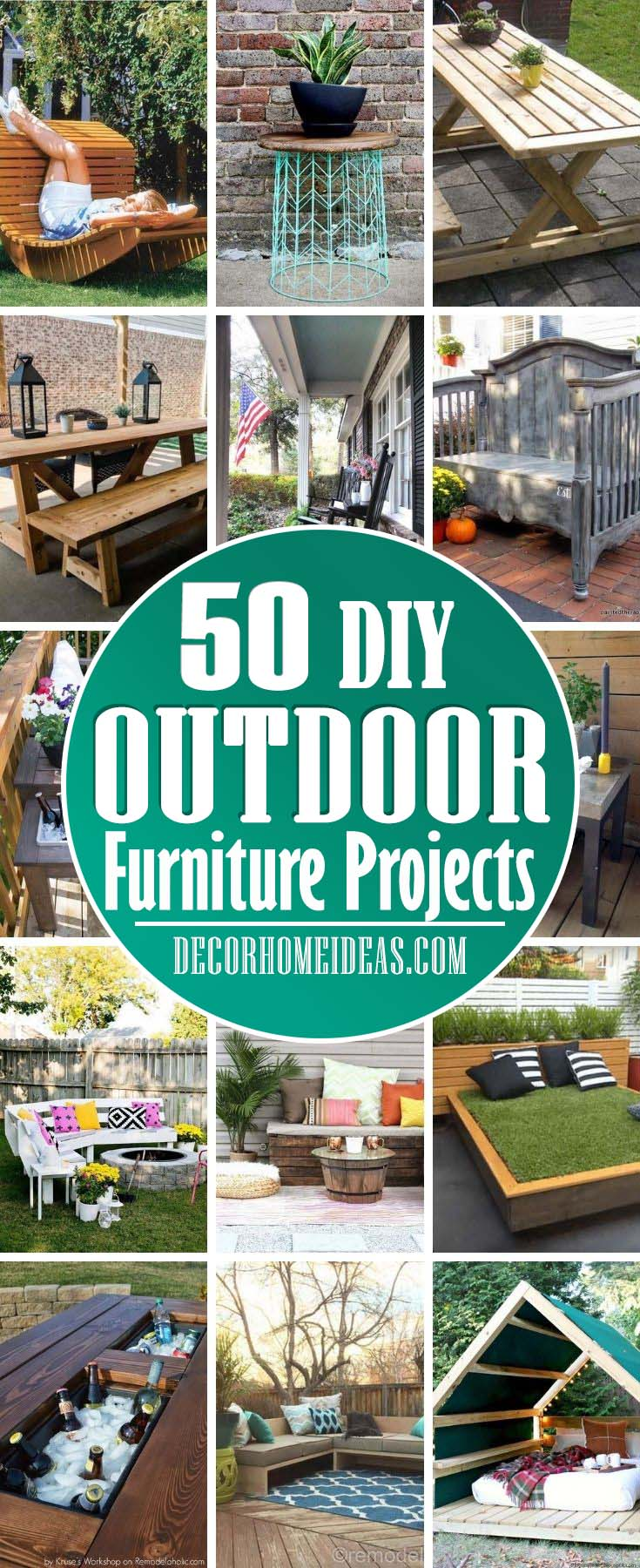 Best Outdoor Furniture Projects. If you are looking for a budget-friendly DIY outdoor furniture project that could be done easily, we have selected the best ones for you. #diy #outdoor #furniture #projects #decorhomeideas