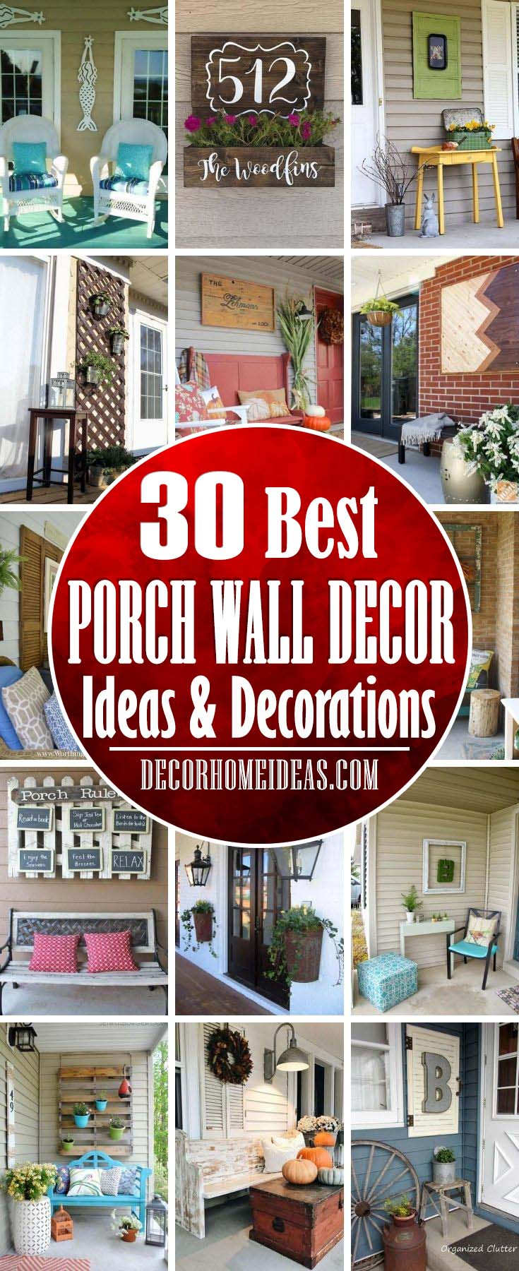 Best Porch Wall Decor Ideas. Find inspiration in these gorgeous outdoor wall decors and try your favorite porch design ideas at home. #decorhomeideas
