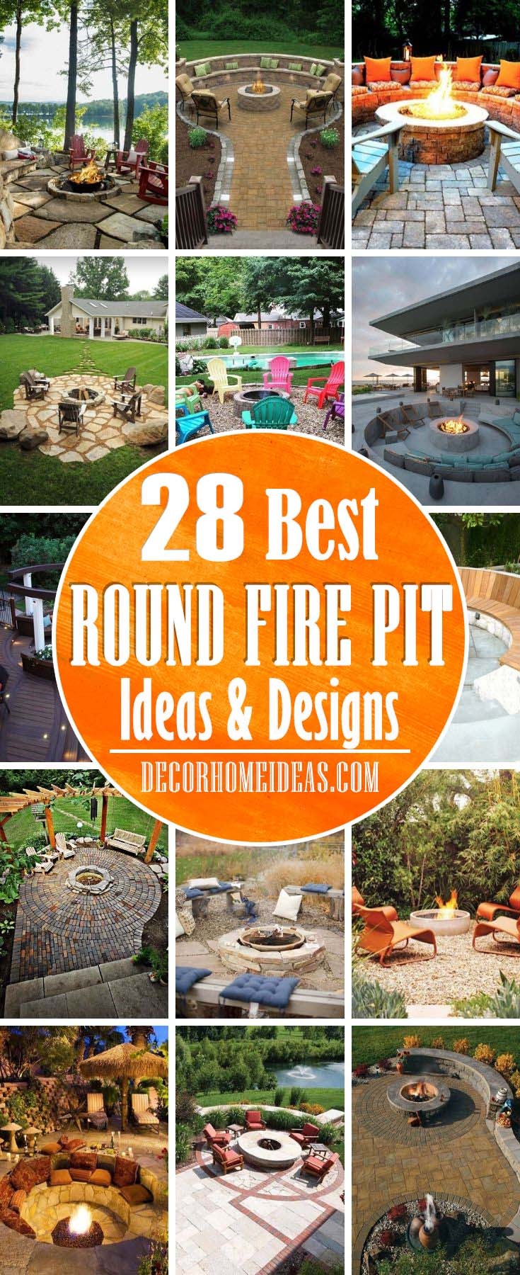 Best Round Fire Pit Ideas. Stone, rock, open brick and concrete pits, these dreamy backyard round fire pit ideas will help you get things lit this summer. #diy #firepit #round #decorhomeideas