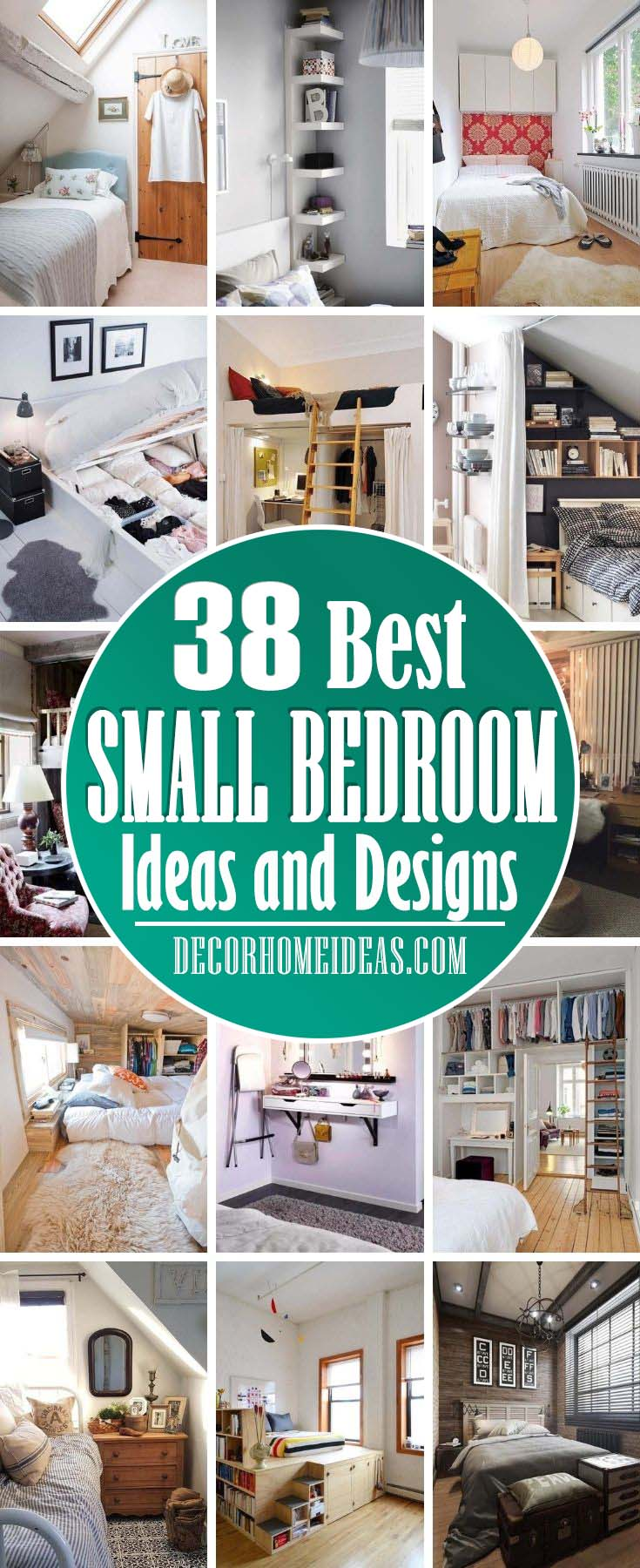 Best Small Bedroom Ideas And Designs. If you don't think you have enough space for a beautiful makeover, we have 38 small bedroom ideas to help you create a small bedroom that's big in style.