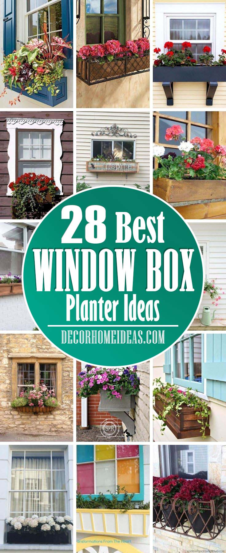 Best Window Box Planter Ideas. These window box planter ideas will make an adorable addition to any home. They are really beautiful and inspiring for your next home project. #decorhomeideas
