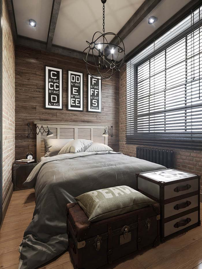 A Bright, Cozy Space with High Ceilings #bedroom #small #design #decorhomeideas