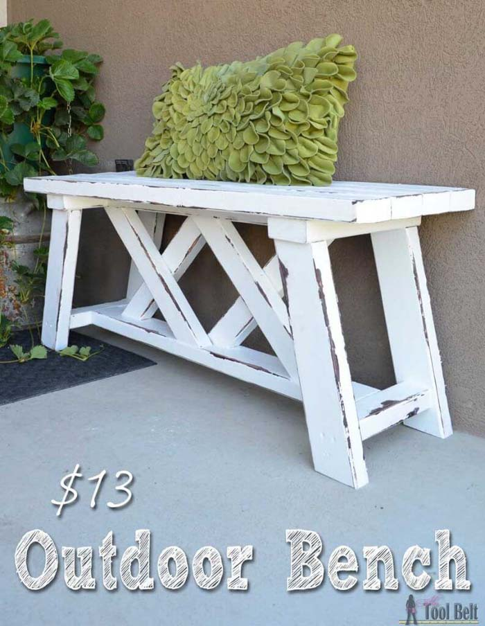 How To Build an Outdoor Bench #diy #outdoor #furniture #decorhomeideas