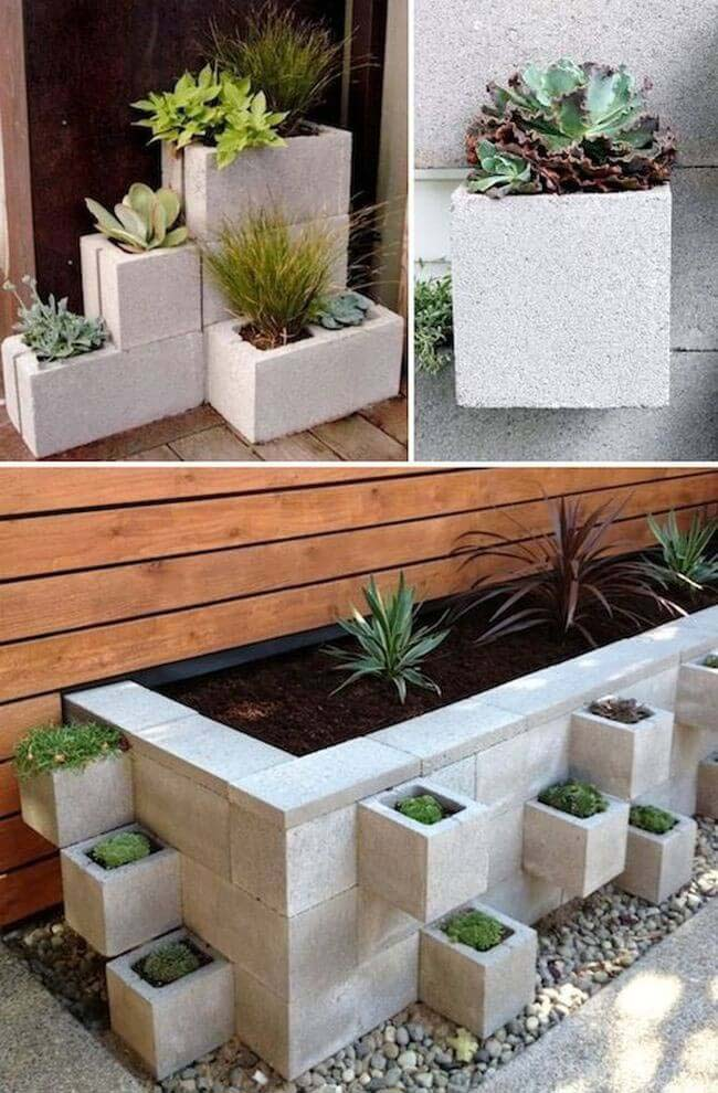 Cinder Block Garden Container Ideas #garden #container #planter #decorhomeideas