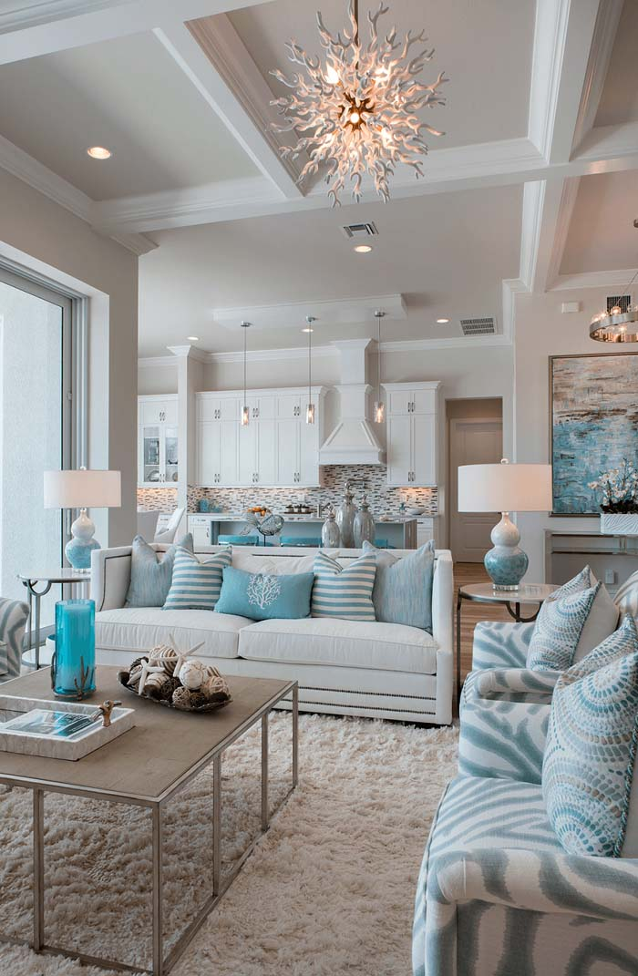 Coastal Decorating Ideas with Turquoise Accents #beach #coastal #decoration #decorhomeideas
