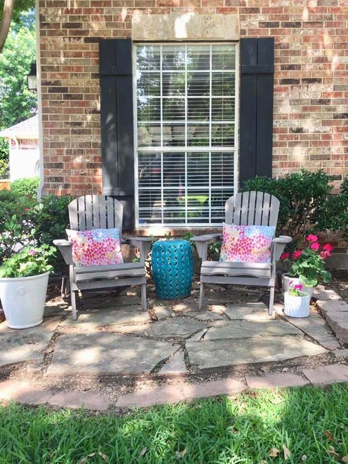 Cute Backyard Rest Area #backyard #sitting #area #decorhomeideas