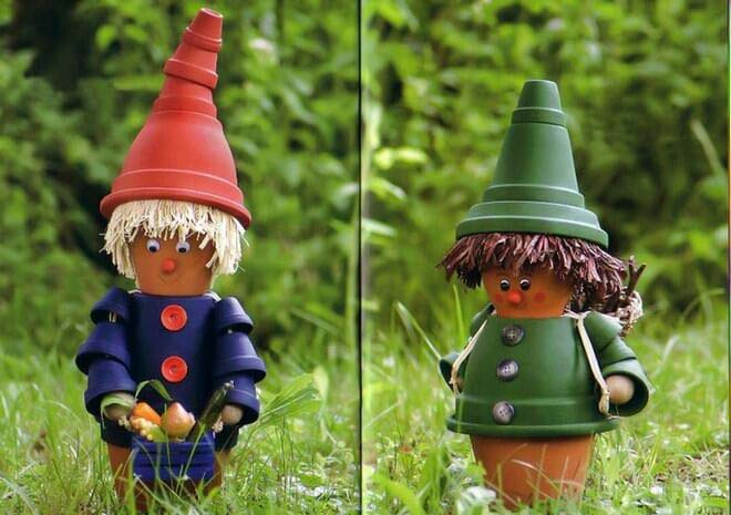 Cute People Dressed in Colored Pots #diy #paint #garden #decorations #decorhomeideas