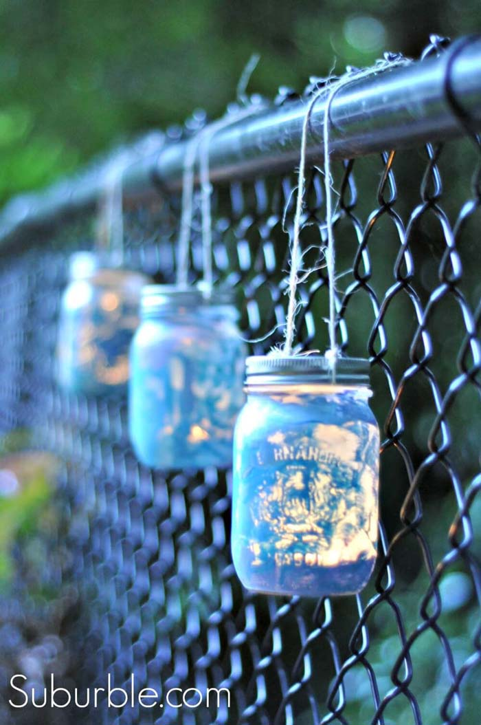 DIY Mason Jar Lanterns #diy #masonjar #lights #decorhomeideas