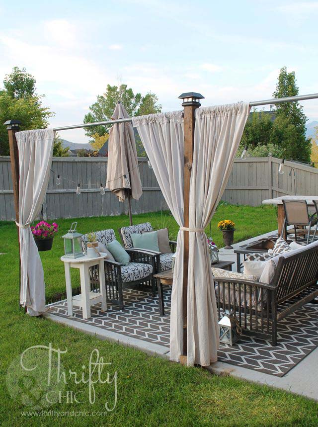 DIY Privacy Screen #diy #patio #decorations #decorhomeideas