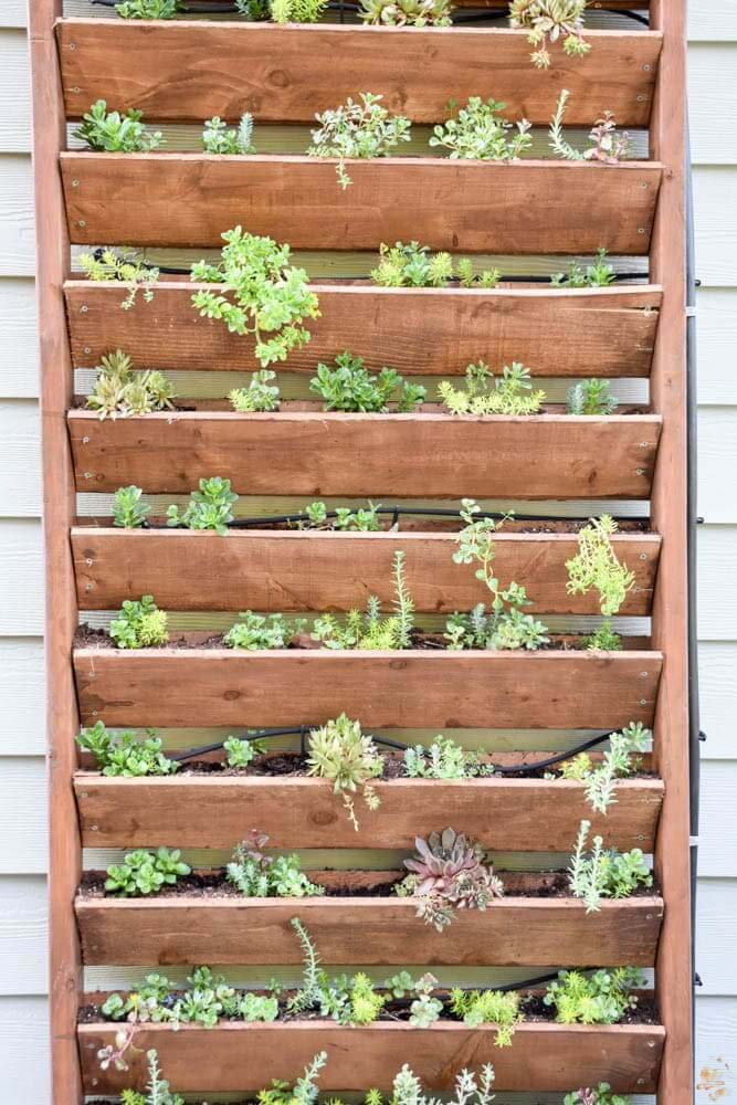 DIY Vertical Garden #diy #patio #decorations #decorhomeideas