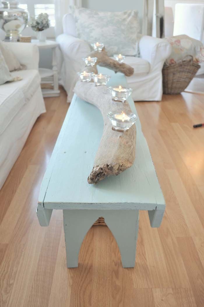 Driftwood Coffee Table for a Beach House #beach #coastal #decoration #decorhomeideas