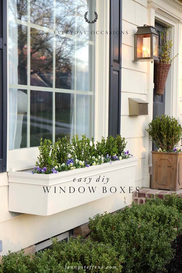 DIY Easy Flower Boxes #planter #box #window #decorhomeideas