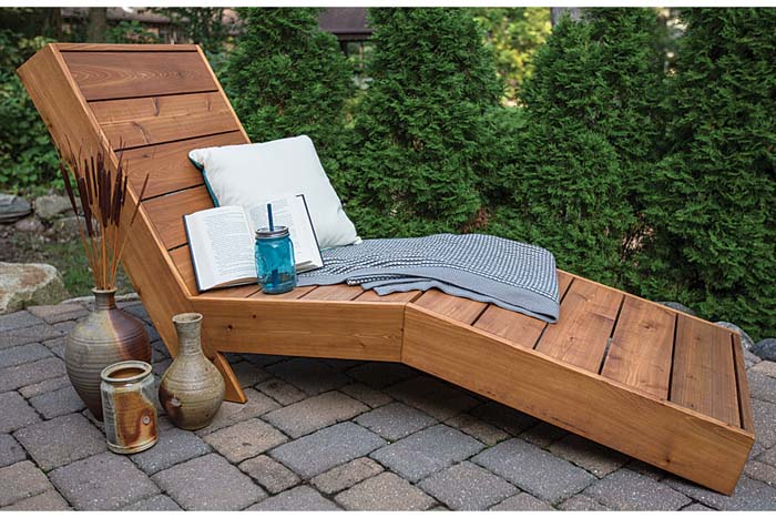 Easy Reclining Chaise #diy #outdoor #furniture #decorhomeideas