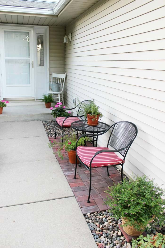 Entrance Patio Makeover #backyard #sitting #area #decorhomeideas