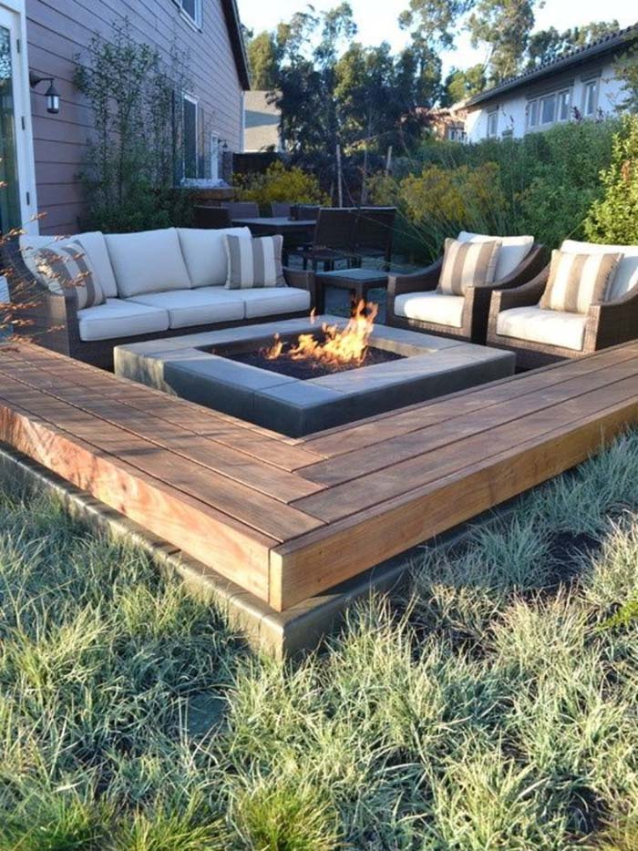 Fire Pit With Sofa and Matching Armchairs #diy #patio #decorations #decorhomeideas